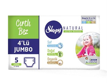 Sleepy Natural Bebek Bezi 4Lü Jumbo Junior 96 Ade