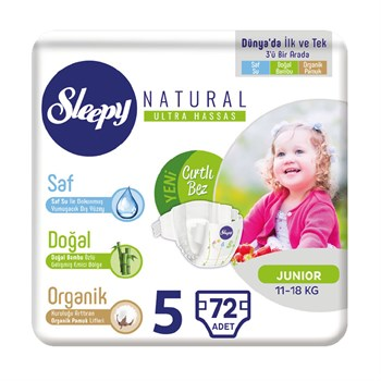Sleepy Natural Junior 5 Beden 3*24 Lü