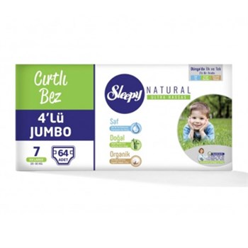 Sleepy Naturel Bebek Bezi 4lüJumb XxLrg no 7- 64lü