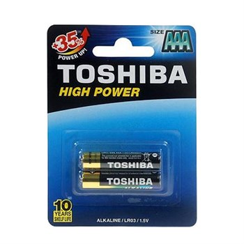 Toshiba High Power 2 li Alkalin İnce Pil